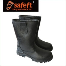 Mens leather shoes china steel toe cap oil resistant safety shoes