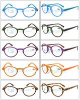 Most popular same color round plastic reading glasses