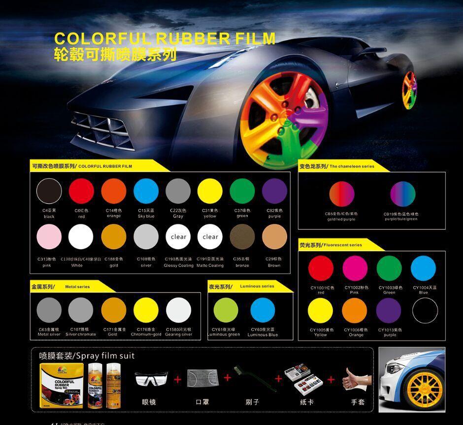 Liquid Rubber Paint For Cars Colorful Car Rubber Paint
