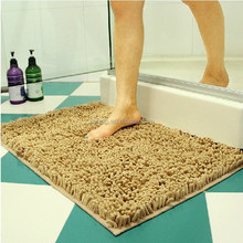 Hot selling oriental chenille polyester toilet mat