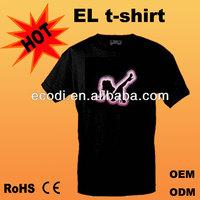 Hot!! Brilliant!! High Quality el lady t-shirts el light/flash/animated