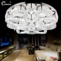 2015 Fancy crystal modern suspended ceiling light,wire chandelier