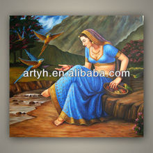Modern Handmade Classical Indian Oil Painting Seller