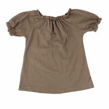 2015 new style solid color summer cotton top girls ruffly designer clothing manufacturers in china
