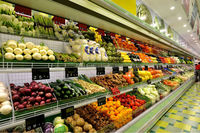 DMV type chiller to keep vegetable and fruit fresh in Green Grocery store