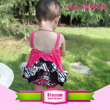 2015 Hot sales hot pink with bloomers wholesale baby girl dress set