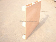 China Alibaba no need fumigation wood pallet with plywood board