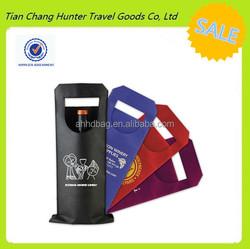 wholesale reusable non woven single bottle wine bag for wine store advertising