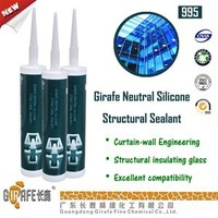 clear gule RTV UV Resistant structural silicone sealant construction adhesive for curtain wall