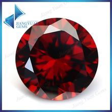 Garnet stone applied in Jewelry 3a round zirconia