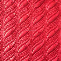 2015 fashion fleece/polyester padded fabric with quilting