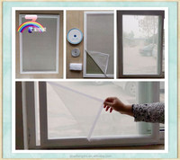 Cut piece of window screen mesh textile fabric