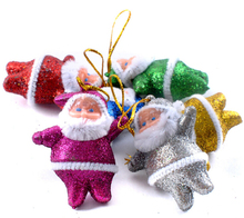 Delicate christmas tree ornaments small pendant santa claus decoration