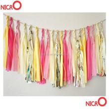 High quality tissue paper tassel garland /nursery /classroom /birthdays / party decorations