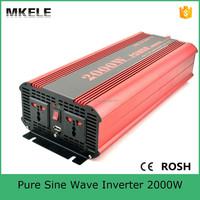 MKP2000-122R dc to ac power inverter dc 12v ac 220v,pure sine wave power inverter 12v 220v 2000w power inverter