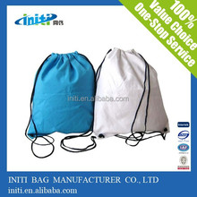 Cheap promotional various fabrics custom gift backpack drawstring bag