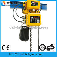 tractor with remote control single double speed Electric chain hoist 0.5-5ton