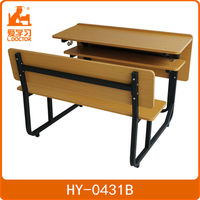 metal leg wood top school desk
