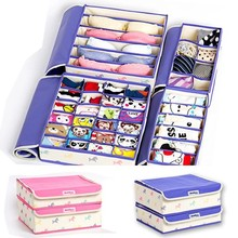 Underwear fabric storage organizer 4 suit with different colors available(FH-FC044)