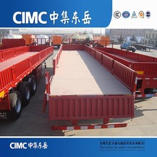 CIMC Side Wall/Dropside Semi Trailer With Leaf Spring Suspension