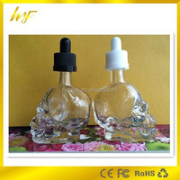 15 ml skull heads glass dropper bottle childproof cap dropper bottle from Shenzhen manufacturer