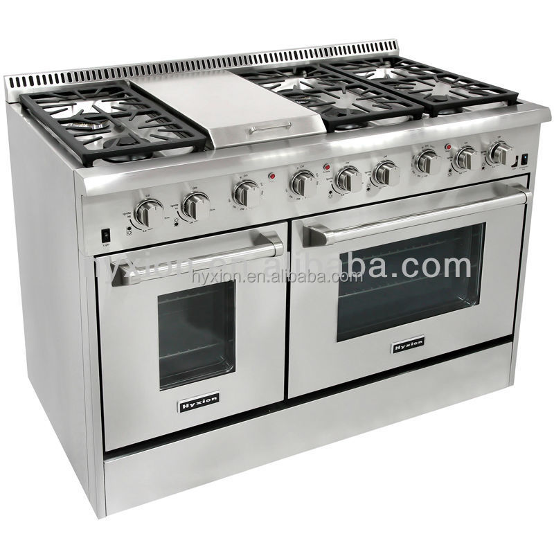 hot sale 48inch hyxion gas range reviews with two ovens
