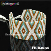 Japanese seed bead tassel bracelet with charms