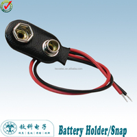 TBH-S1 Ningbo TECO 9V I-Style Battery Snap with 150mm Lead wire
