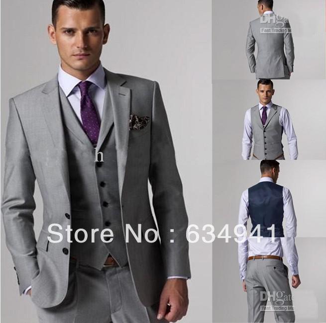 Custom Made Tan Groom Tuxedo Best Man Suit Western Wedding ...