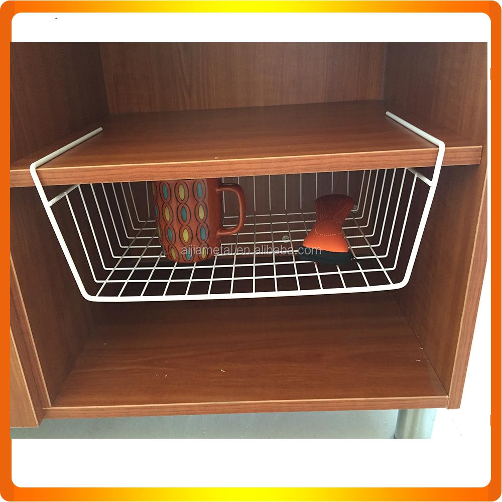 wholesale under shelf metal wire hanging storage baskets. Black Bedroom Furniture Sets. Home Design Ideas