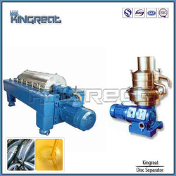 Efficient separation disc stack centrifugal fish oil making separator