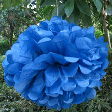 """Royal Blue 12"""" 30cm Tissue Paper Weding Party Decoration Flower Ball"""