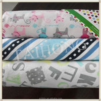 woven football pattern cotton flannelette fabric for baby blanket