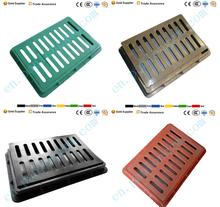 BMC trench cover 500*330*30 Plastic water grate Composite fiberglass EN124 Manhole Cover