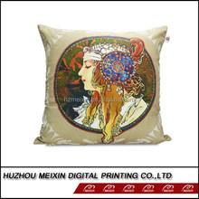 most popular digital printed custom made cotton cushion