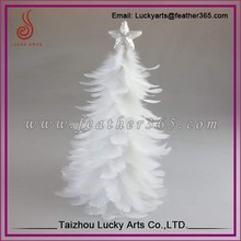 Taizhou Lucky Arts New Design Top Quality White Feather Christmas Tree