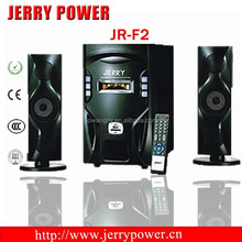 hot sale home theater perfect function JR-F2 speaker subwoofer with mobile phone, usb, sd, notebook computer
