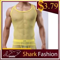 Shark Fashion Wholesale Men's Gym Vest Stringer Tank Top