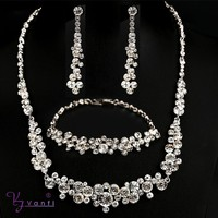 imitation diamond jewellery designs pure crystal handmade jewelry set
