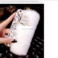 Winter Warm Rabbit Fur Phone Case For iPhone