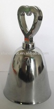3''small metal cow bell A12-H03 with heart-shaped handle for alert (E520)