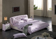european style bed queen size pink leather bed