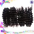 2015 atacado produtos de cabelo ano novo Hot venda de publicidade brasileira onda profunda virgem Remy extensão do cabelo humano