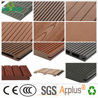 hollow soid stripe polished wood grain composite decking good fit for outdoor or indoor
