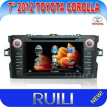 2 din 7 inch RUILI car dvd with gps for 2012 toyota corolla