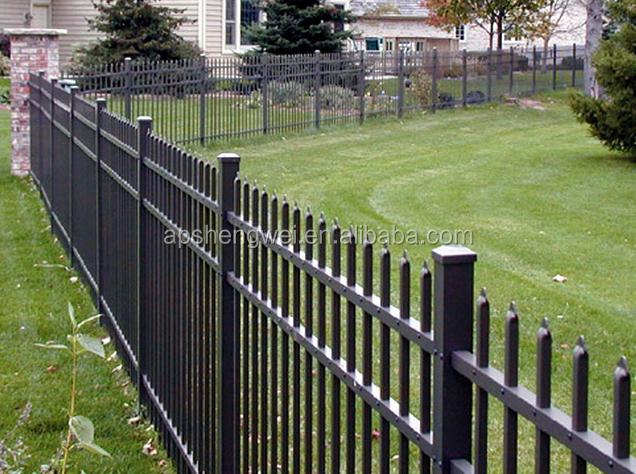 Security steel backyard metal fence fencing