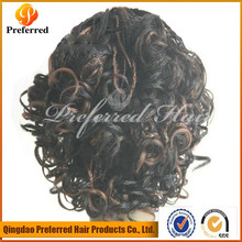 Natural wave texture human hair full lace wigs for african women