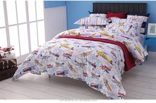 Polyester microfiber fabric with simple design children cartoon pattern printed bedding sheet set
