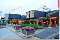 Modern prefab house /prefab container shop /street corner shop