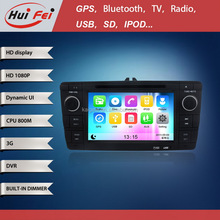 HuiFei Virtual Disc HD 1080P support 3G WiFi iPhone New Interface Car Radio for Skoda Octavia